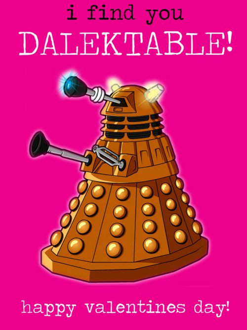 Doctor Who Dalektable Valentine